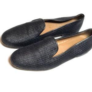 Stubbs Wootton 8 AA Black Raffia Loafers Slippers